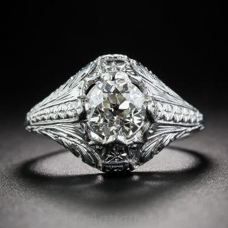 1.00 Art Deco Engagement Ring