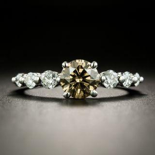 1.00 Carat Fancy Dark Yellowish Brown Diamond Engagement Ring - GIA - 2