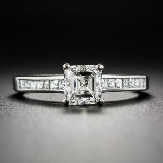 1.01 Carat Asscher Cut Diamond Ring - GIA I/VS1