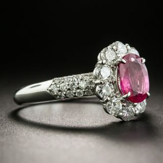 1.01 Carat Ruby Platinum Diamond Ring