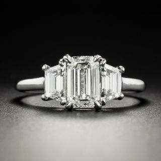 1.01 Emerald-Cut Diamond Engagement Ring by Martin Flyer - GIA E SI1 - 3