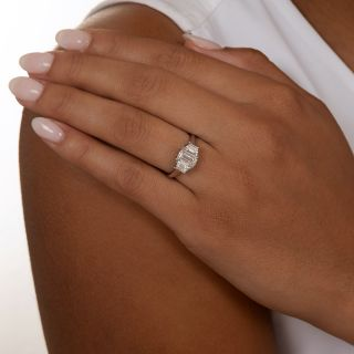 1.01 Emerald-Cut Diamond Engagement Ring by Martin Flyer - GIA E SI1