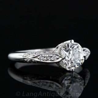 1.02 Carat Vintage Style Diamond Engagement Ring