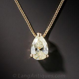 1.03 Carat Pear Shaped Diamond Pendant