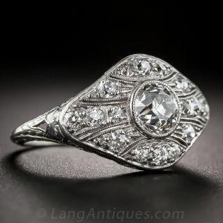 1.05 Carat Center Art Deco Diamond Ring
