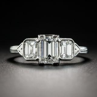 1.06 Carat Emerald-Cut Diamond Three-Stone Ring - GIA E VS1 - 1
