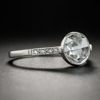 1.08 Carat Rose Cut Diamond Ring GIA D VS1