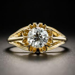 1.09 Carat European-Cut Diamond Solitaire Engagement Ring - GIA I VS2 - 2