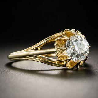 1.09 Carat European-Cut Diamond Solitaire Engagement Ring - GIA I VS2
