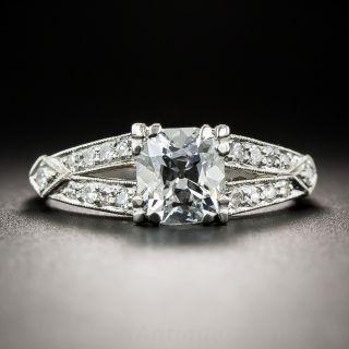 1.11 Carat Antique Cushion-Cut Diamond Vintage Engagement Ring - GIA  D VS1 - 1