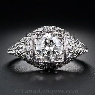 1.12 Carat Antique Diamond Engagement Ring