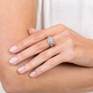 1.13 Carat Art Deco Diamond Engagement Ring