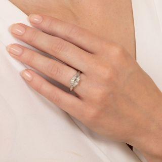 1.13 Carat Emerald-Cut Diamond Engagement Ring -  GIA K VS1