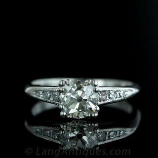 1.14-Carat-Antique-Cushion-Cut-Diamond-Ring-in-Platinum-Main-View