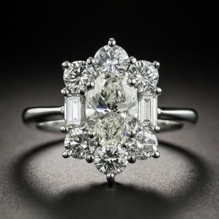 1.18 Carat Oval Platinum Diamond Ring - GIA K SI2 - 1