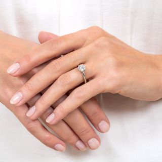1.19 Carat D VVS2 Solitaire Diamond Ring - GIA