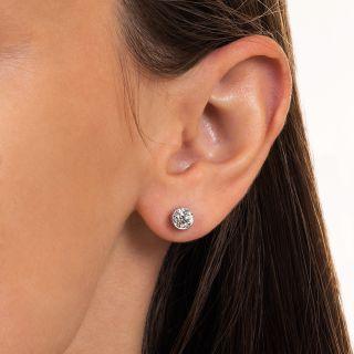 Vintage 1.20 Carat Diamond Stud Earrings