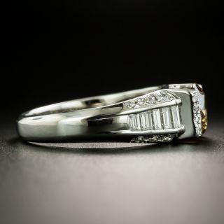 1.22 Carat Natural Brown Platinum Diamond Ring