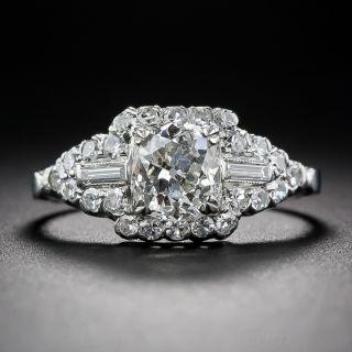 1.25 Carat Diamond and Platinum Vintage Engagement Ring