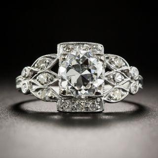 1.28 Carat Platinum Diamond Art Deco Engagement Ring - GIA G VS2  - 1