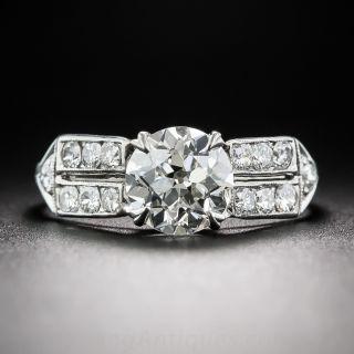 1.29 Carat Diamond Vintage Engagement Ring GIA - J/SI1 - 1