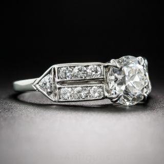 1.29 Carat Diamond Vintage Engagement Ring GIA - J/SI1