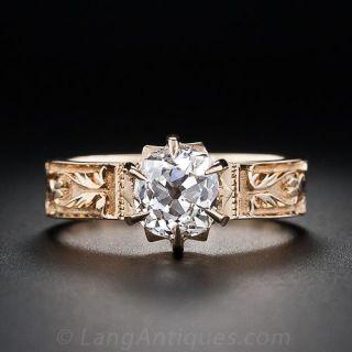 1.32 Carat Antique Diamond Engagement Ring