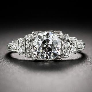 1.34 Carat GIA Cushion-Cut Diamond Ring