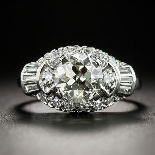 1.35 Carat Mid-Century Platinum Diamond Engagement Ring - GIA - 2