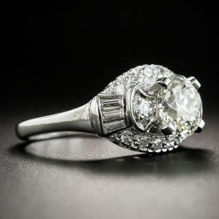 1.35 Carat Mid-Century Platinum Diamond Engagement Ring - GIA