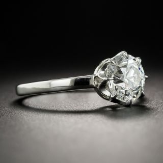 Lang Collection 1.38 Carat European-Cut Diamond Solitaire Engagement Ring - GIA I VS2