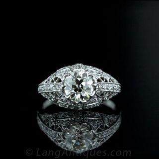 1.44-Carat-Antique-Cushion-Cut-Diamond-Ring-Main-View