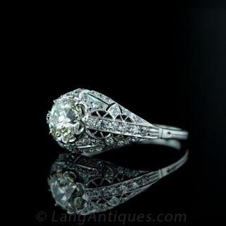 1.44 Carat Antique Cushion Cut Diamond Ring
