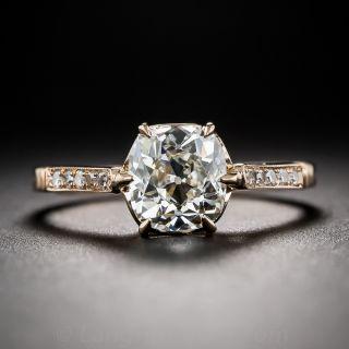 1.46 Carat Antique Cushion-Cut Diamond Engagement Ring