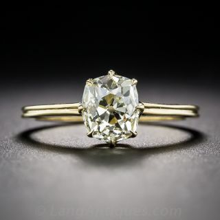 1.50  Carat Antique Cushion-Cut Diamond Ring