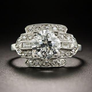 1.50 Carat Diamond Platinum Art Deco Engagement Ring
