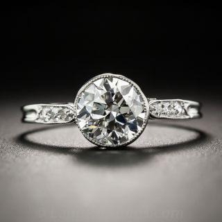 1.50 Carat Diamond Vintage Solitaire Engagement Ring - GIA I VS1  - 1