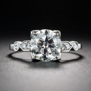 1.50 Diamond Art Deco Engagement Ring - GIA K/VS2