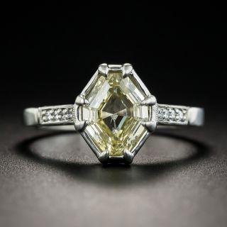 1.51 Carat Natural Fancy Yellow Octagonal Diamond Ring - GIA - 1