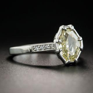 1.51 Carat Natural Fancy Yellow Octagonal Diamond Ring - GIA