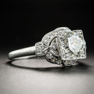 1.52 Carat Diamond and Platinum Art Deco Engagement Ring - GIA  L VS1