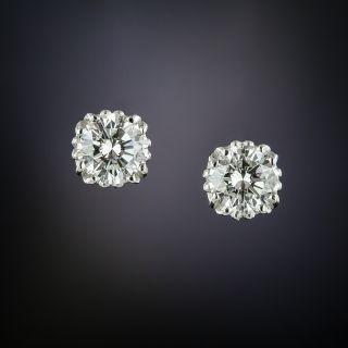 1.52 Carat Diamond Stud Earrings - 1