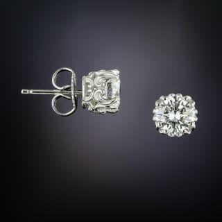 1.52 Carat Diamond Stud Earrings