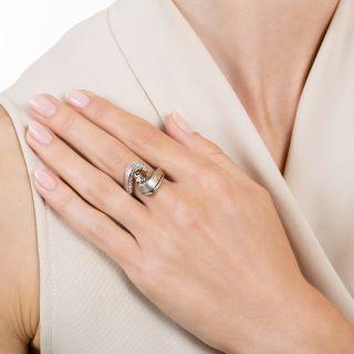 1.53 Carat Natural Fancy Dark Yellowish Brown Diamond Ring - GIA