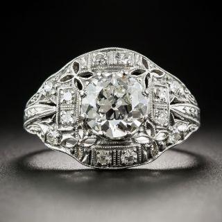 1.53 Carats Art Deco Platinum Diamond Ring - GIA I SI1 - 1