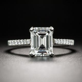 1.54 Carat Emerald-Cut Diamond Ring - GIA D VS2
