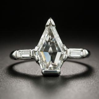 1.54 Carat Kite-Shaped Diamond Engagement Ring - GIA H VS1 - 2
