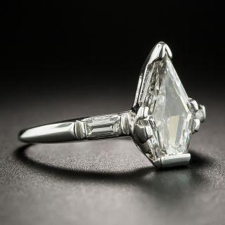 1.54 Carat Kite-Shaped Diamond Engagement Ring - GIA H VS1