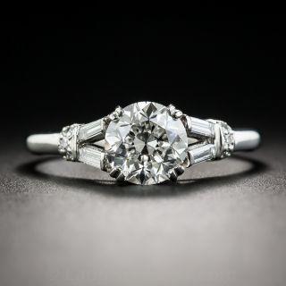 1.55 Carat Diamond Palladium Vintage Engagement Ring - GIA H VVS2