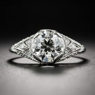 1.55 GIA J/VVS2 Diamond Art Deco Engagement Ring